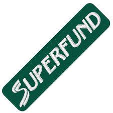 """Ski Fan Aufnäher """" Superfund """"  15 x 4 cm"""