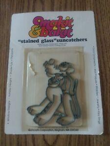 Goofy Dog Makit Bakit Make It Bake It Stained Glass Suncatcher Vtg NOS