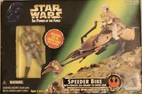 1996 Star Wars Kenner Speeder Bike With Princess Leia