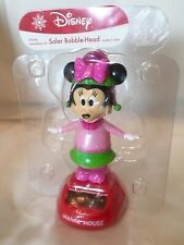 Solar Powered Dancing Bobble Disney Minnie Mouse Pink Winter New