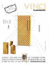 ▬► Publicité VINCI Flaminaire Lighter Briquet Original French Print ad 1965