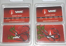 VMC Barbarian Shakey Jigs (Lot of 2-Watermelon-1/8-1/16-4/pk)