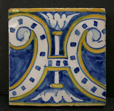 Antique Decorated Tile from Spain