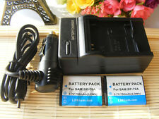 TWO (2) Battery & Charger  for Samsung BP-70A ES73 ES74 PL80 PL100 Camera