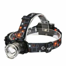 CrazyFire LED Headlamp1600 Lumens XML-T6 CREE  Zoomable 3 Modes Outdoor Hunting