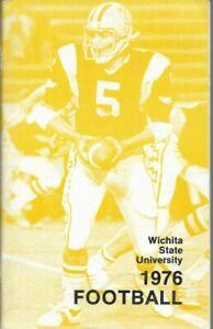 1976 WICHITA STATE SHOCKERS FOOTBALL media guide, Excellent, Original