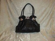 Unique Trendy Design A-Frame Black Handbag