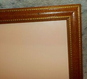 """Wood frame with gold embossing, 11"""" x 14"""", regular clear glass, flex tabs"""