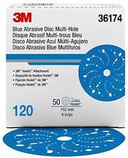 "3M 36174 Hookit Blue Abrasive Disc 6"", 120 Grade, 50/Box"
