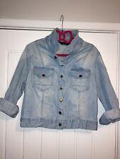 Vintage Washed Look Denim Jacket By Dorothy Perkins Size 14