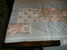 """New Patchwork Window Valance with Lace & Flowers - 16"""" x 84"""""""