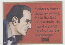 THE ADVENTURES OF SHERLOCK HOLMES TRADING CARDS PROMO CARD P2 CULT STUFF