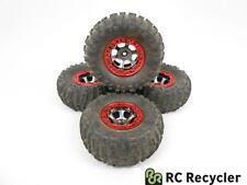Losi 2.2 Black Chrome Nylon Beadlock Wheels Rock Claws Tires Night Comp Crawler
