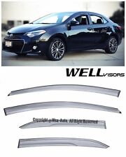 For 14-16 Toyota Corolla WellVisors Side Window Visors Aerodyn Series