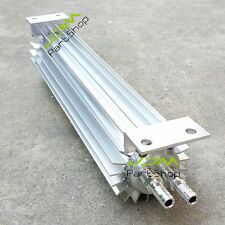 """Polished 12 Inch OD=3"""" ANODIZED ALUMINUM Double Pass Finned Oil cooler Long=12"""""""