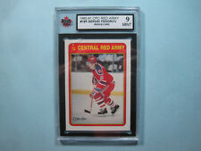 1990/91 O-PEE-CHEE NHL HOCKEY CARD #19R SERGEI FEDOROV ROOKIE KSA 9 MT SHARP OPC