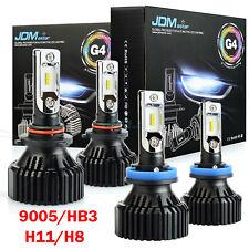 JDM ASTAR 4Pc H11 9005 LED 16000LM Combo Headlight High Low Beam 6500K White Kit
