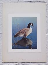DANIEL SMITH Canada Goose Signed Art Print Lithograph 17x14 Duck Stamp Fowl