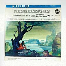 Mendelssohn Symphony No.3 A Minor Scotch OP.56 STPL 511.310 33rpm Stereovox LP