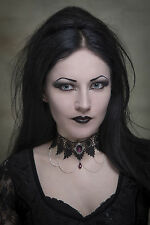 Gothic choker necklace purple steampunk lace wedding victorian goth SINISTRA