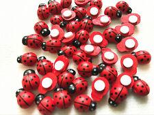 20Pcs ladybug wood button round hole sewing process accessories DIY Wood sticker