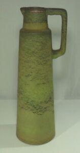 edle CERAMANO TAIGA 276 Henkelvase Design grüne Glasur Keramik Kanne Karaffe