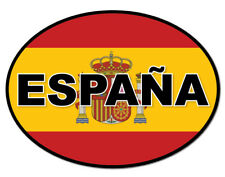 2 x ESPANA SPAGNA BANDIERA Ovale, Auto, Furgone Decalcomania Sticker