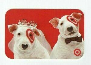 Target Gift Card Bullseye Dog - Bride & Groom - 2005 - No Value - I Combine Ship