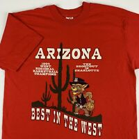 VTG 90s Arizona Wildcats Basketball 1994 Best In The West T-Shirt Mens Large USA