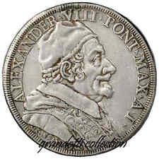 PAPA ALESSANDRO VIII PIASTRA 1690 AN I MONETA IN ARGENTO STATO PONTIFICIO