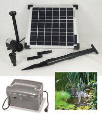 10 W Solarpumpe Solar Teichpumpe Tauchpumpe Akku Batterie Gartenteichpumpe Pumpe