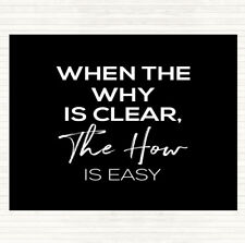 Black White The How Is Easy Quote Dinner Table Placemat