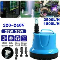 Submersible Water Pump Fish Pond Aquarium Tanks Waterfall Features Fountain N4Y0