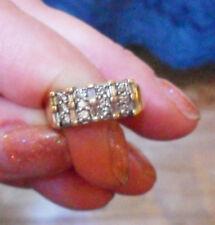 9ct Gold 0.60ct Baguette & Round Diamond Half ET Wedding Ring ~ 3.8gms ~ Size Q