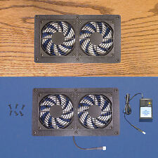 Dual Mega-fan Enclosed Cabinet AV Cooling Fans, with multispeed control