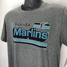 Florida Marlins Retro Throwback Tee Gray Men's XL MLB Genuine Merchandise ~NEW~