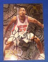 GRANT HILL signed autograph auto 1996 Fleer Detroit Pistons