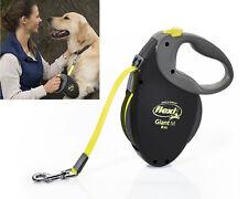 FLEXI Giant Negro Neón Correa de cinta retráctil perro cachorro de plomo 8 M Profesional seguro