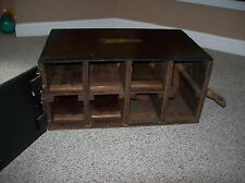 Vintage Solid Wood Custom Train Car Collectors Storage Box