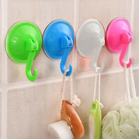 5 Pcs Removable Plastic Wall Kitchen Bathroom Hook Hanger Suction-Cup