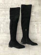 Authentic Le Silla Over The Knee Black Boots Size 36 US 6 (like Stuart Weitzman)