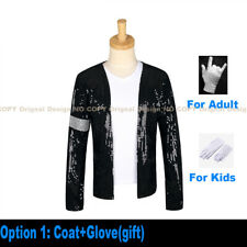 Mj Michael Jackson Jacket Billie Jean Coat Glove Cap Pants Party Cosplay Costume