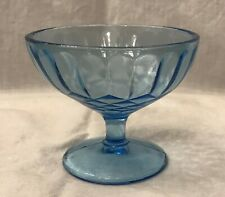 Two Aunt Polly Blue Depression Glass Sherbets