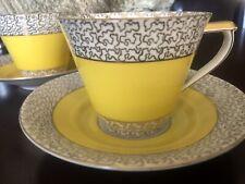 Victoria china czechoslovakia Tea cups Set of Two