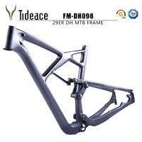 29er T800 Carbon Fiber Full Suspension Mountain Bike Frames+Headset+Thru Axle
