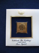 1999 Peace Symbol Celebrate the Century 22kt Gold Golden Cover FDC replica Stamp