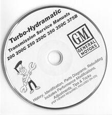 Turbo-Hydramatic TH THM 200 250 325 350 375B Rebuild Manuals