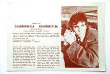 QUADROPHENIA WHO STING 1978 RARE EXYUGO MOVIE PROGRAM