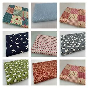 CLEARANCE  - 100% Cotton fabric, crafts sewing, face coverings, UK