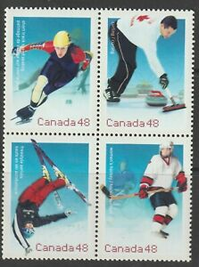 Canada 2002 - #1939a Olympic Witer Games in Salt Lake City - MNH Block of 4